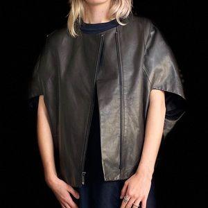 """BCBG MAXAZRIA """"Liv"""" leather vest $498 NEW"""